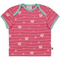 Kurzarm Shirt Faultiere pink