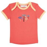 Mädchen Shirt für Babys & Kleinkinder - Palme koralle