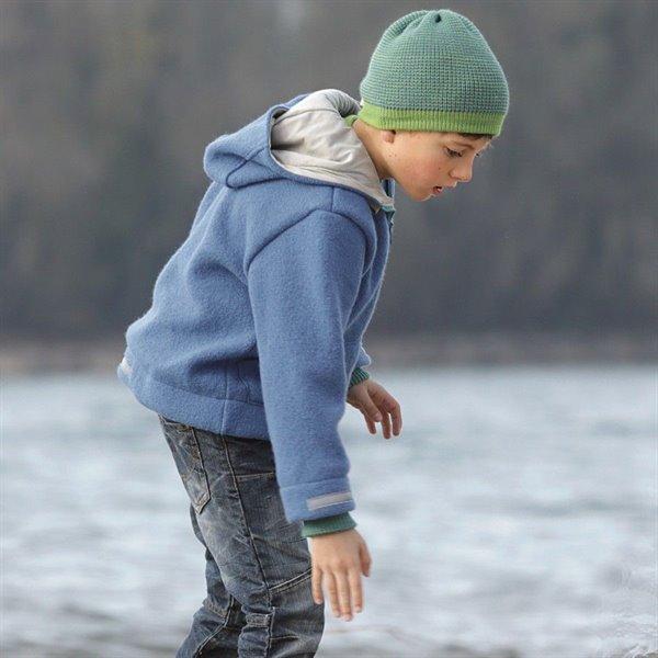 Bio Walk Kinderjacke Outdoor gefüttert Reflektoren blau