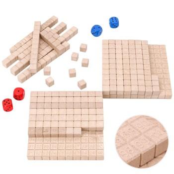 Hunderterraum Mathespiel aus RE-Wood® ab 4 Jahren