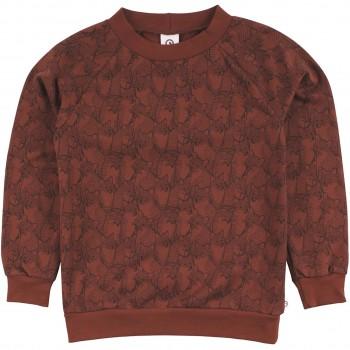 Sweatshirt mit Füchsen rotbraun