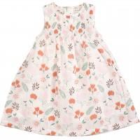 Sommer Kleid ohne Arm Blumen rosa