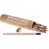 Öko dicke Buntstifte mit Bleistift und Anspitzer 13 Stifte