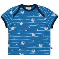 Kurzarm Shirt Faultiere blau