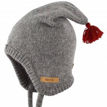 Flauschige Zipfel Strickmütze Alpaka-Merino Woll Mix