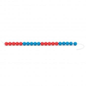 20er Rechenkette aus RE-Plastic® rot-blau ab 5 Jahren