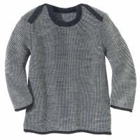 Baby Pullover Melange Schlupfkragen anthrazit