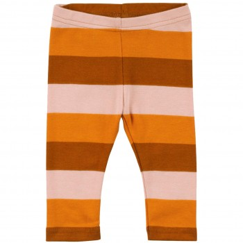 Bio Leggings im Block-Design in orange-braun-altrosa