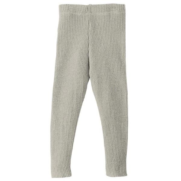 Wolle Leggings warm mitwachsend grau