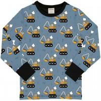 Bagger Shirt langarm Bündchen in hellblau