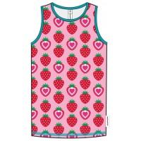 Mädchen Unterhemd Bio Erdbeere