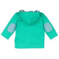 Vorschau: Sweatjacke für Kinder Loud and Proud grün Gecko