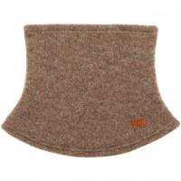 Loopschal Wolle Fleece walnuss-braun