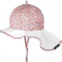 Elegante Sommermütze Blumen verstellbar rosa
