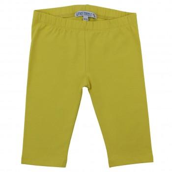 Gelbe 3/4 Leggings uni