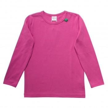 Basic Langarmshirt in pink-violet