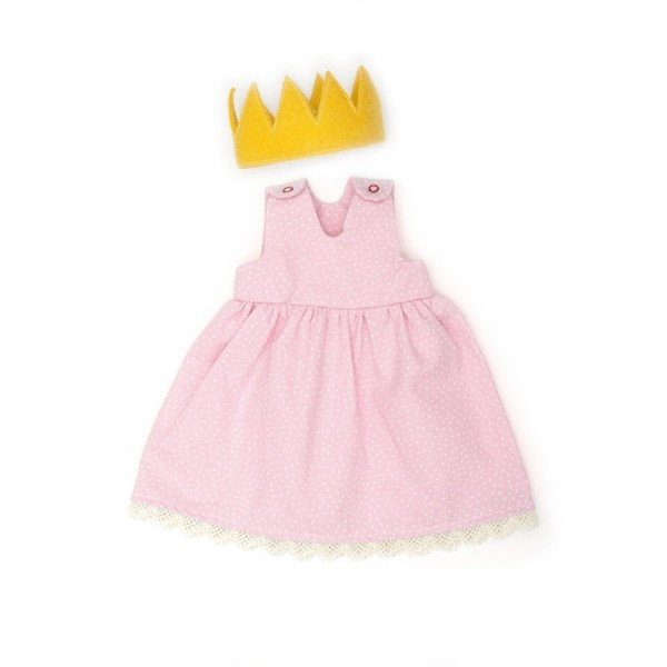 Puppenkleid Prinzessin + Zubehör rosa