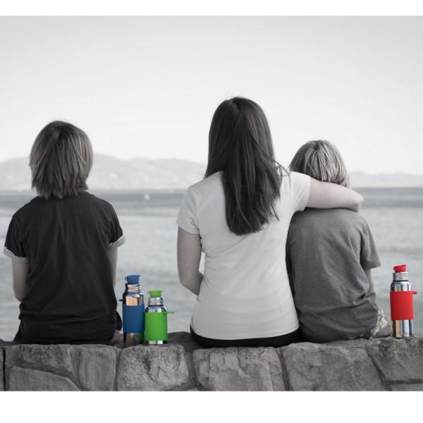 Pura Edelstahl Sportflasche Sportverschluss 550 ml rot