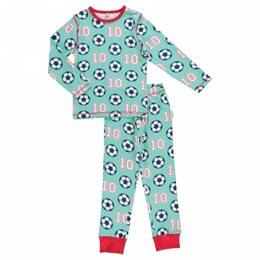 Fußball Kinder Bio Schlafanzug leicht