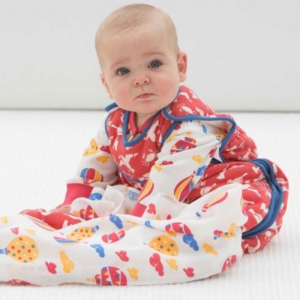 Bio Baby Schlafsack für die Übergangszeit + Sommer - blau