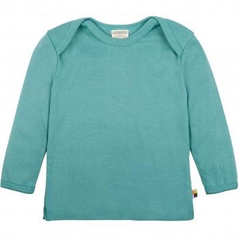 Leichtes Ripp Shirt langarm in grün