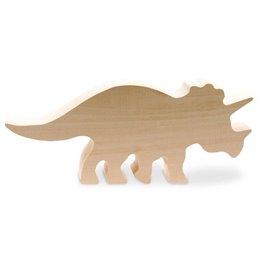 Schnitzrohling Holztier - Triceratops