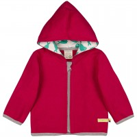 Fleecejacke warm in beere mit Zipper