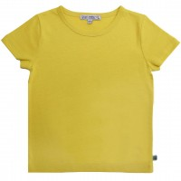 Shirt kurzarm uni Basic in limonen-gelb
