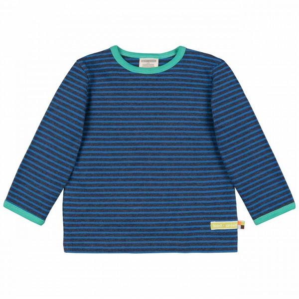 Dickeres Jersey Shirt navy langarm