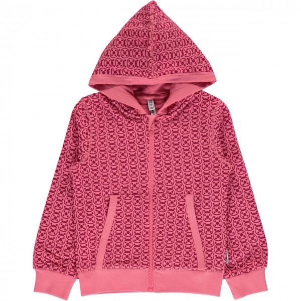 Kapuzenjacke Marienkäfer pink