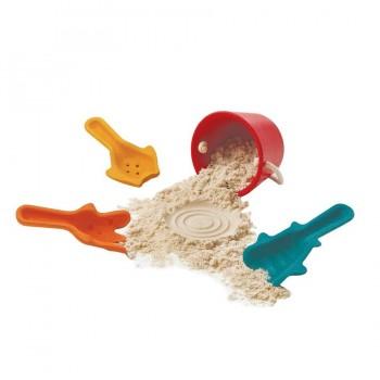 Sandspielzeug aus Holz Schaufeln und Eimer ab 1,5 Jahre