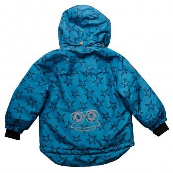 Warme Winterjacke in blau