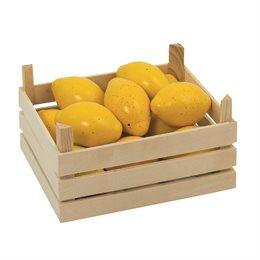 Obst Kiste für Kaufmannsladen - Zitronen
