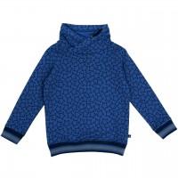 Sweat Pullover Sternen-Druck royal blau