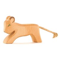Kleiner Löwe Holzfigur laufend 5 cm hoch