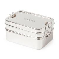 Bestseller Edelstahl Brotbox + Snackbox 1l 15 x 11 x 7,8 cm