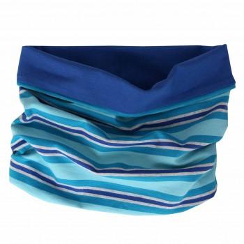 Streifen Schlauchschal in blau