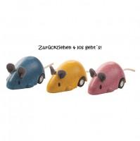 Kleine Mäuseflitzer mit Getriebemechanismus, 3er Pack