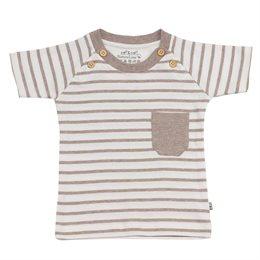 T-Shirt mit 4 Knöpfen und Brusttasche