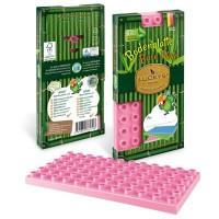 Luckys Naturbausteine Grundplatte pink