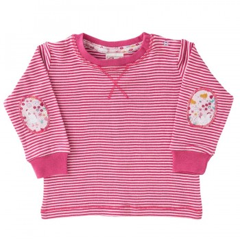 Langarm Shirt pink Patches