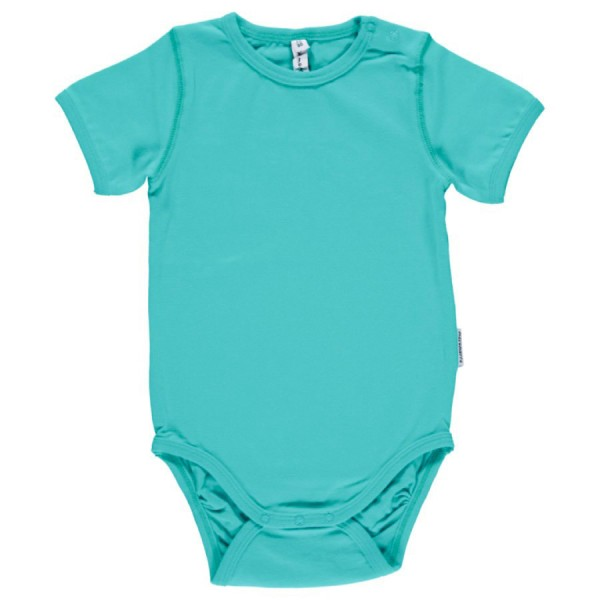 Softer kurzarm Babybody neutral türkis