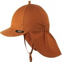 Robuste Schirmmütze Nackenschutz karamell