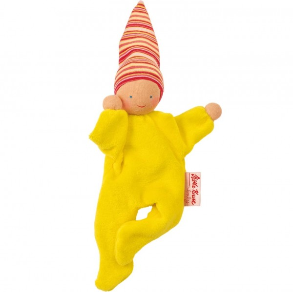 Waldorf Nickybaby Püppchen & Werfpuppe - gelb