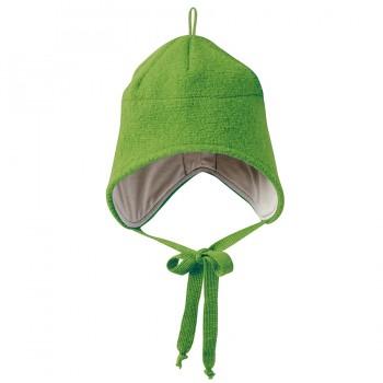 Wolle Wintermütze breiter Ohrenschutz grün