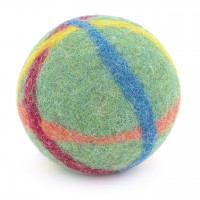 Baby Filzball mit Glöckchen - grasgrün 9 cm