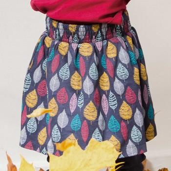 Mädchen Rock mit Bündchen Blätter
