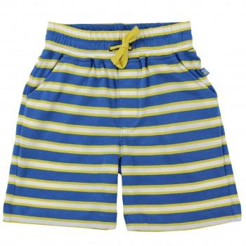 Jungen Shorts Streifen gelb-blau