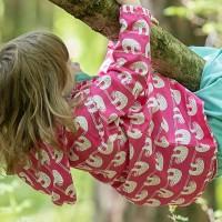 Ungefütterte Outdoorjacke mit Abperleffekt Faultiere pink 15-25 C