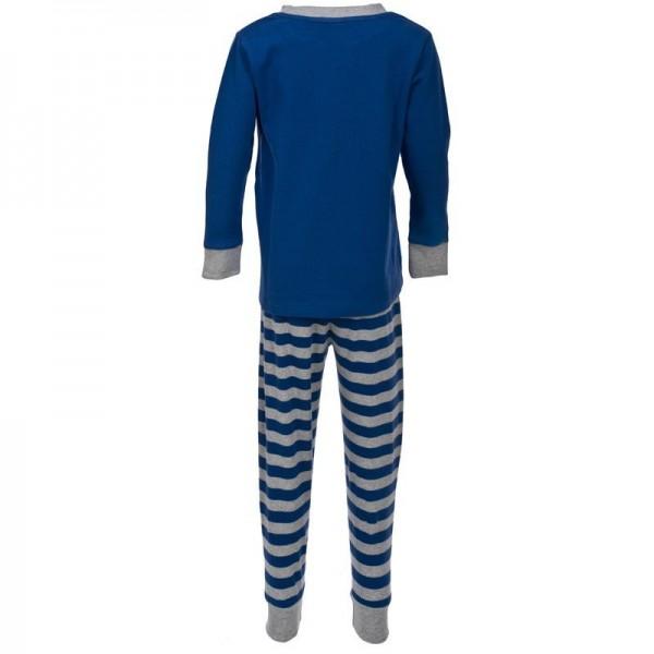 Kuscheliger Schlafanzug Interlock mit Dachs blau
